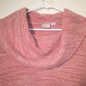 Anthropologie Sweaters - Anthropology Postmark Maurisa Pink Cowl Longsleeve